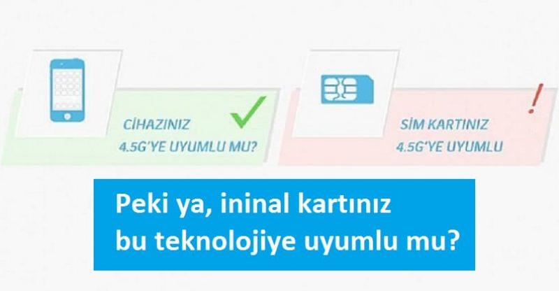 4.5 G sim kart değişikliği ininal kart 3D Secure SMS işlemleri