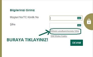 Kuveyt Türk internet bankacılığı şifre alma