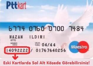Ptt kart hesap numarası