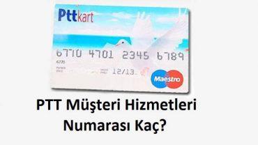 ptt müşteri hizmetleri numarası