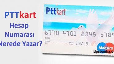ptt kart hesap numarası nerde yazar