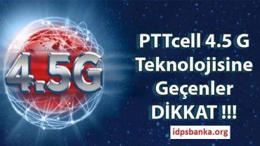 4.5 G sim kart değişikliği PTTcell
