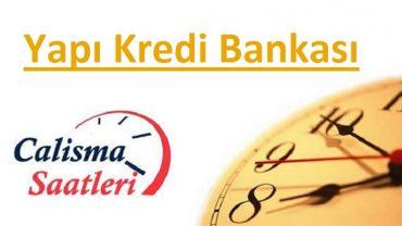Yapı Kredi Bankası çalışma saatleri
