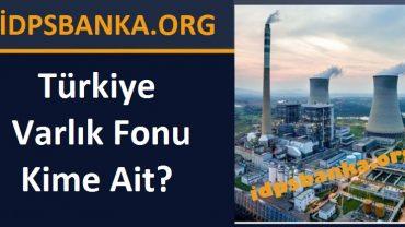 Türkiye varlık fonu kime ait