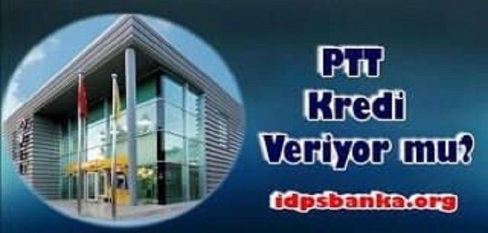 PTT kredi başvurusu yapma