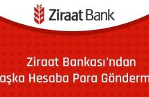 Ziraat Bankası başka hesaba para yatırma